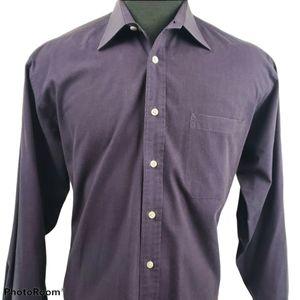 Christian Dior Dress Button Purple Shirt Size 16